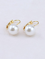 cheap -Women's Crystal Stud Earrings European Fashion 18K Gold Plated Pearl Imitation Pearl Earrings Jewelry Gold / Silver For / Imitation Diamond / Rhinestone / Austria Crystal