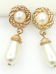 cheap -Women's Crystal Stud Earrings Drop Earrings Ladies European Fashion 18K Gold Plated Pearl Imitation Pearl Earrings Jewelry For / Imitation Diamond / Rhinestone / Austria Crystal