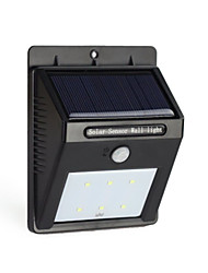cheap -6LED Solar Power PIR Motion Sensor Wall Light Outdoor Waterproof Garden Lamp