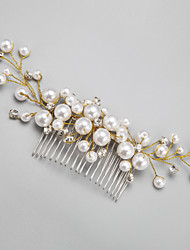 cheap -Imitation Pearl / Rhinestone / Alloy Hair Combs / Headwear with Floral 1pc Wedding / Special Occasion Headpiece