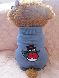 cheap -Dog Sweater Dog Clothes Gray / Red Mixed Material Costume For Winter