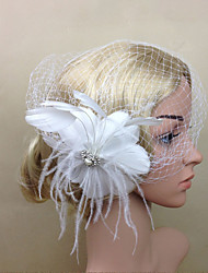 cheap -Women Fabric Hair Clip , Flower Tassel Veil Party Headpiece