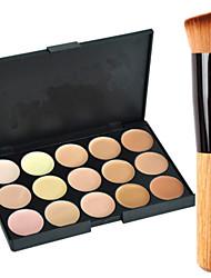 abordables -15 couleurs Correcteur / Contour Pinceaux de Maquillage 1 pcs Sec / Mélange / Huileux Visage Maquillage Cosmétique