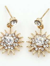 cheap -Women's Crystal Stud Earrings Dangling Dangle Ladies European Fashion 18K Gold Plated Rhinestone Gold Plated Earrings Jewelry Gold / Silver / Rose Gold For Wedding Masquerade Engagement Party Prom