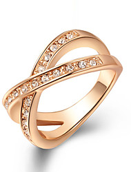 cheap -Party Gold Plated/Fashion Elegant Alloy/Cubic Zirconia Band Ring