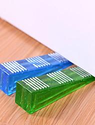 Недорогие -кристалл клин двери пробкой 2-сторонний Антипробуксовочная дверная пружина (случайный цвет)