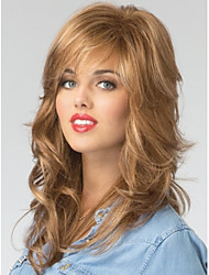 cheap -High Quality Capless Long  Wavy Mono Top Virgin Remy  Human Hair Wigs 7 Colors to Choose