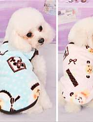 cheap -Dog Sweater Winter Dog Clothes Blue Pink Costume Cotton Cosplay Wedding Cute XS S M L XL
