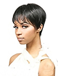 cheap -Synthetic Wig Straight Straight Wig Short Black Black#1B Synthetic Hair Women's Black hairjoy