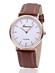 cheap -Men's Wrist Watch Quartz Leather Black / Brown Hot Sale Analog Charm Classic Simple watch - Black Brown