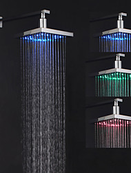 cheap -Contemporary Rain Shower Chrome Feature - Rainfall / LED, Shower Head