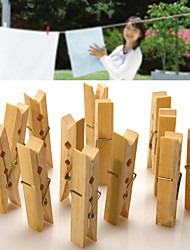 Недорогие -20 шт деревянные прищепки висит чистый цвет декора одежды ремесло