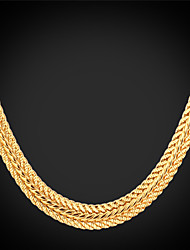 cheap -Women's Choker Necklace Chain Necklace Chunky Foxtail chain Dookie Chain Ladies Fashion Dubai Platinum Plated Gold Plated Alloy Silver Rose Golden Necklace Jewelry For Wedding Party Daily Casual
