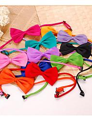 abordables -Chien Cravate / Noeud Papillon Vêtements pour Chien Noir Blanche Violet Costume Velours côtelé Etanche Mariage 34-36 36-38 6.0x8.1cm