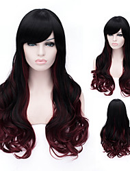 cheap -Synthetic Wig Body Wave Body Wave Wig Rainbow Synthetic Hair Women's Multi-color