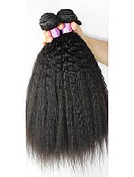 cheap -3 Bundles Brazilian Hair Straight Natural Color Hair Weaves / Hair Bulk Human Hair Weaves Human Hair Extensions / 8A