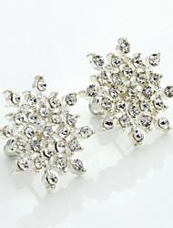 cheap -Women's Crystal Stud Earrings Ladies European Fashion 18K Gold Plated Rhinestone Gold Plated Earrings Jewelry Silver For / Imitation Diamond / Austria Crystal