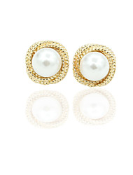 cheap -Women's Stud Earrings European Fashion Imitation Pearl Gold Plated Earrings Jewelry Gold For