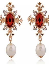 cheap -Women's Cubic Zirconia Drop Earrings Dangling Dangle Fashion Pearl Imitation Pearl Cubic Zirconia Earrings Jewelry Screen Color For
