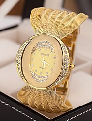 cheap -Women's Luxury Watches Bracelet Watch Diamond Watch Quartz Silver / Brown / Gold Imitation Diamond Analog Ladies Sparkle Fashion Dress Watch - Silver Golden