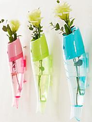 Недорогие -рыба форму вазы настенный контейнер красочный цветочный горшок (случайный цвет)