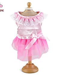 cheap -Cat Dog Dress Dog Clothes Pink Costume Terylene Cotton Bowknot Cosplay Wedding S M L XL