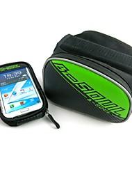 cheap -B-SOUL Bike Bag 20LBike Frame Bag Cell Phone Bag Multifunctional Touch Screen Bicycle Bag PU Leather Oxford PVC Cycle BagTraveling