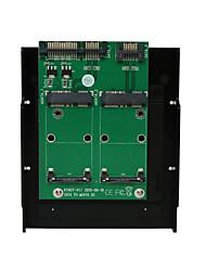 cheap -Maiwo 2xSATA TO 2xmSATA Convertor Card Interface Card KT007B