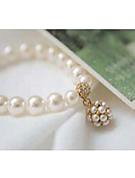 cheap -Crystal Chain Bracelet Vintage Party Work Casual European 18K Gold Plated Bracelet Jewelry Gold / Silver For / Imitation Diamond / Pearl / Pearl / Rhinestone / Austria Crystal