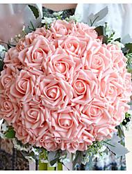 abordables -Fleurs de mariage Bouquets Mariage Polyester / Mousse / Satin 32cm