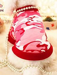 abordables -Chat Chien Tee-shirt Vêtements pour Chien Rouge Bleu Costume Coton Perle Cosplay Mariage XS S M L