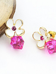 cheap -Women's Crystal Stud Earrings European Fashion 18K Gold Plated Rhinestone Gold Plated Earrings Jewelry White / Blue For / Imitation Diamond / Austria Crystal
