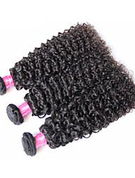 cheap -3 Bundles Brazilian Hair Kinky Curly Natural Color Hair Weaves / Hair Bulk Human Hair Weaves Human Hair Extensions / 8A