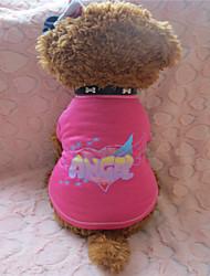 cheap -Dog Shirt / T-Shirt Dog Clothes Rose Costume Cotton XS S M L