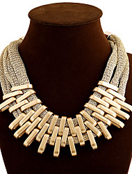 cheap -Women's Choker Necklace Layered Necklace Layered Tassel Fashion Multi Layer Alloy Screen Color Necklace Jewelry For