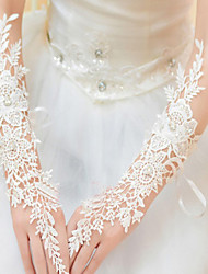 cheap -Lace / Polyester Elbow Length Glove Classical / Bridal Gloves / Party / Evening Gloves With Solid