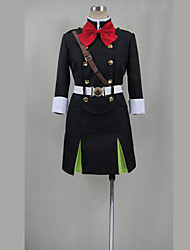 cheap -Inspired by Seraph of the End Cosplay Anime Cosplay Costumes Japanese Cosplay Suits Solid Colored Top Skirt Belt For Women's / Hat / Stockings / Stockings / Hat