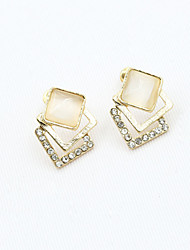 cheap -Women's Crystal Stud Earrings Ladies European Fashion 18K Gold Plated Rhinestone Gold Plated Earrings Jewelry Gold For / Imitation Diamond / Austria Crystal
