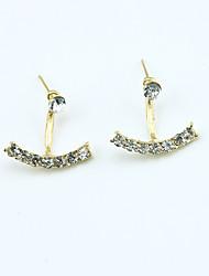 cheap -Women's Crystal Stud Earrings Jacket Earrings Ladies European Fashion 18K Gold Plated Rhinestone Gold Plated Earrings Jewelry Gold / Silver For / Imitation Diamond / Austria Crystal