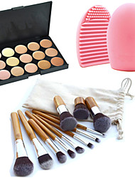 cheap -Powders Concealer / Contour Makeup Brushes 11 pcs Makeup Coverage Long Lasting Concealer Daily Cosmetic Grooming Supplies