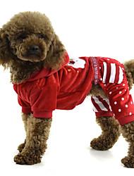 cheap -Dog Coat Dog Clothes Christmas Costume Terylene Cosplay XS S M L XL XXL