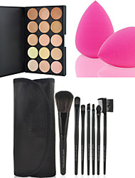 cheap -Professional Makeup Brushes Makeup Brush Set 7 Travel Eco-friendly Professional Full Coverage for Makeup Brush Set