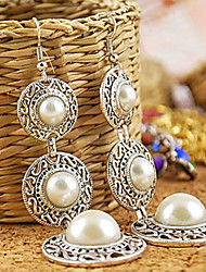 cheap -Women's Cubic Zirconia Drop Earrings Past Present Future Sterling Silver Cubic Zirconia Silver Plated Earrings Jewelry Screen Color For