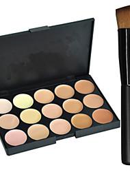 abordables -15 couleurs Correcteur / Contour Pinceaux de Maquillage Sec / Mélange / Huileux Correcteur Visage Maquillage Cosmétique