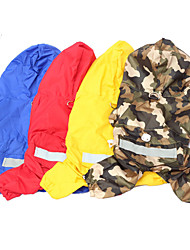 cheap -Dog Rain Coat Dog Clothes Camouflage Color Yellow Red Costume Mixed Material