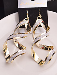 cheap -Women's Drop Earrings Classic Twisted Star Ladies Earrings Jewelry Golden / Silver For Wedding Party Daily Casual