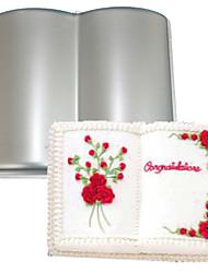 Недорогие -свадебная книга из алюминиевого сплава 3d формы для выпечки