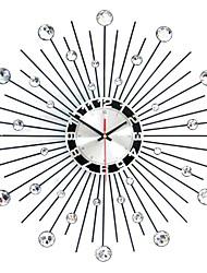 Недорогие -современные круглые железные настенные часы