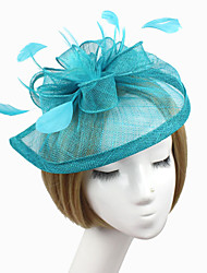 cheap -Women Fabric Headband , Party Feather / Satin Hat Headpiece