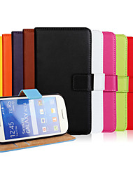 cheap -Case For Samsung Galaxy Ace Style LTE Wallet / Card Holder / with Stand Full Body Cases Solid Colored PU Leather